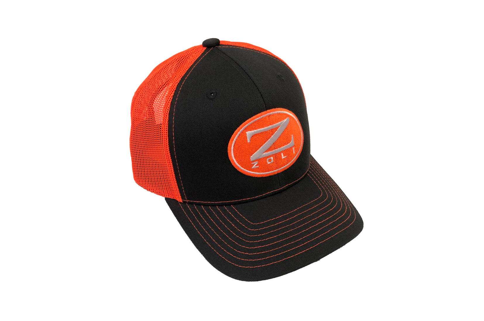 Zoli Embroidered Snap Back Hat (Orange)